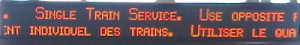 Single train service 1